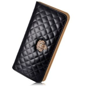 NEW Clutch Accordian Black Wallet